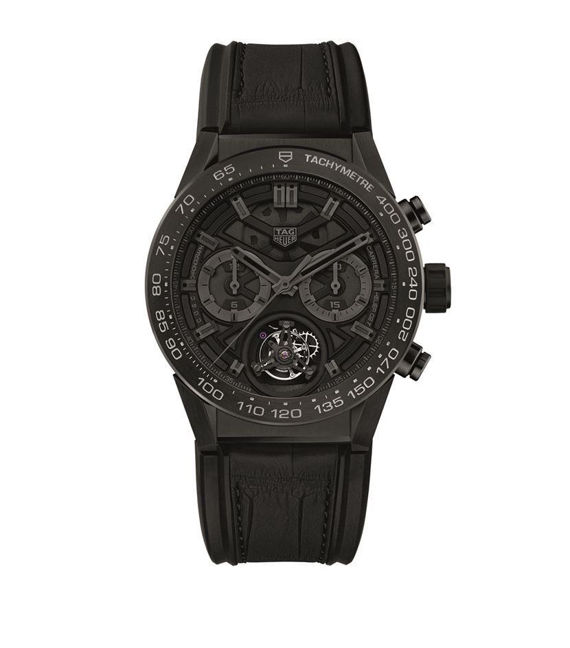 tag heuer 02t black phantom chronograph in