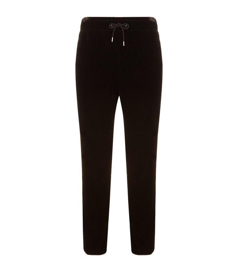 Giorgio Armani Velvet Drawstring Sweatpants In Black For