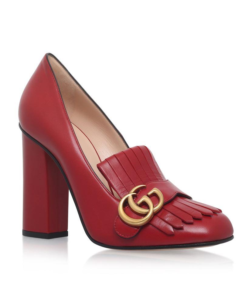 c88cf8cc099 Gucci Marmont Pumps 105 in Red - Lyst