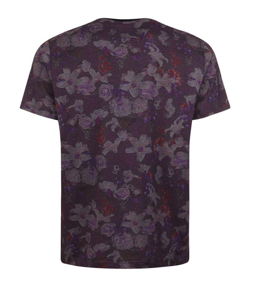 Ted baker floral printed t shirt for men lyst for Ted baker floral shirt