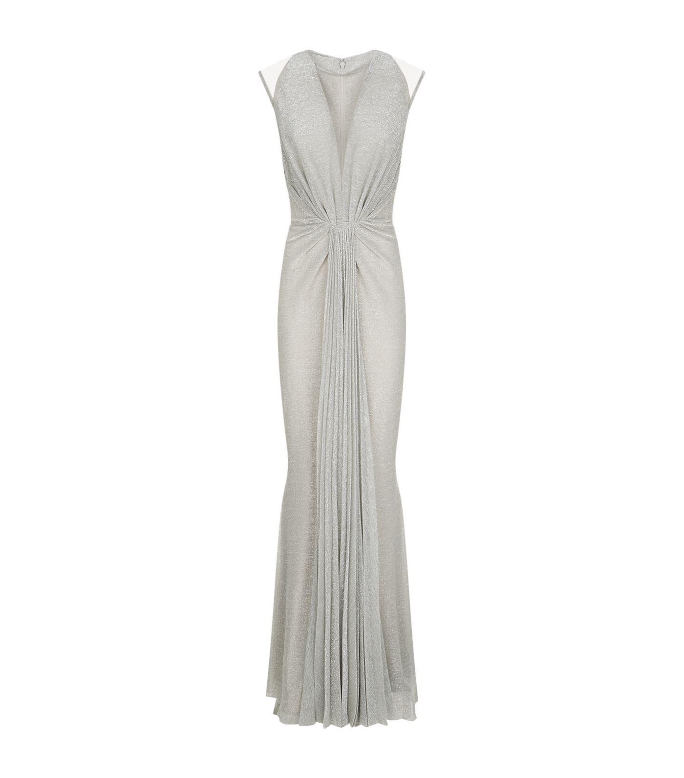 metallic pleated gown Talbot Runhof Sale Discount Buy Cheap Low Shipping Discount Best Wholesale v0idvl