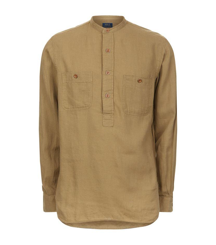 Polo Ralph Lauren Linen Cotton Utility Shirt For Men Lyst