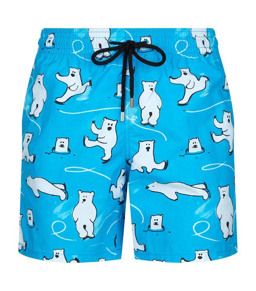 64d4313a97 Vilebrequin Polar Bear Moorea Swim Shorts in Blue for Men - Lyst