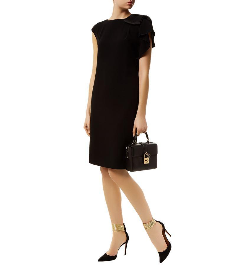 Max mara Cannone Bow Shoulder Dress in Black
