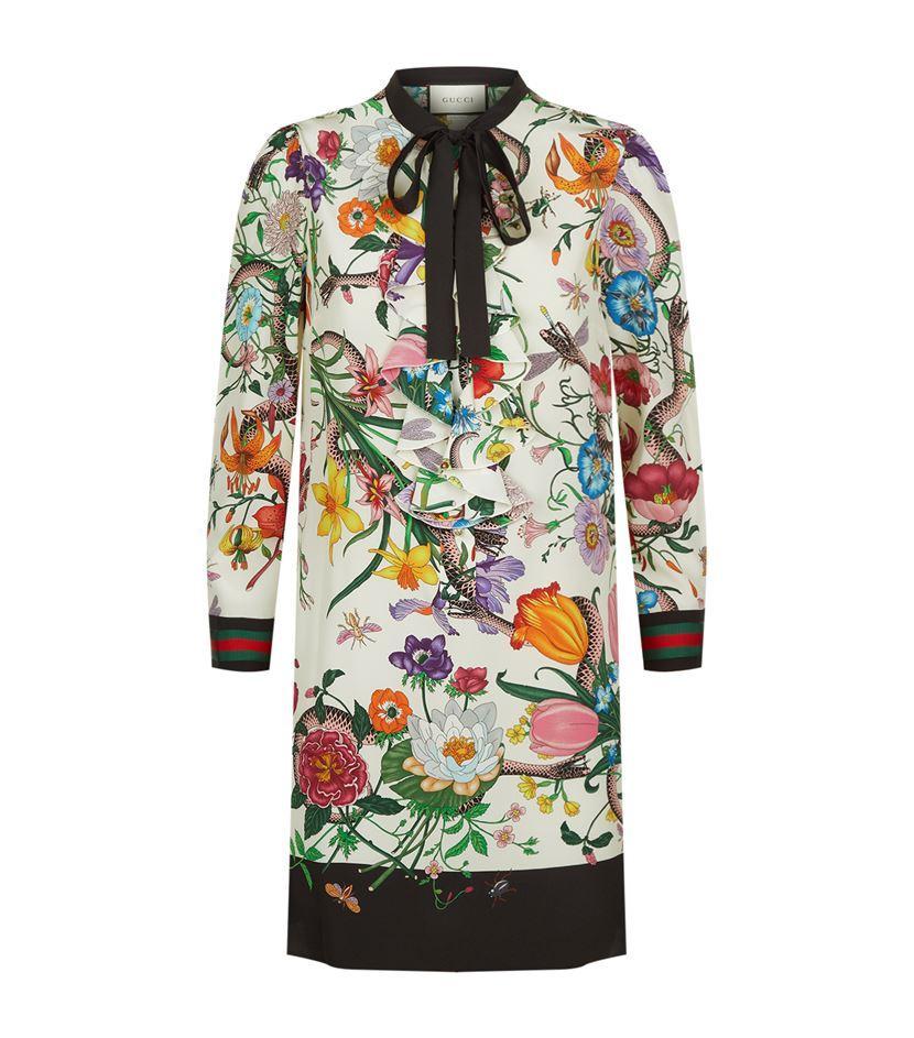 aae42f764ca Gucci Floral Snake Print Shirt