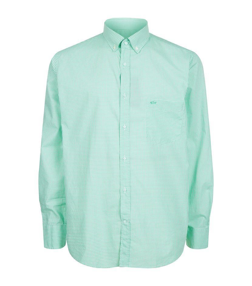 Paul Shark Gingham Check Shirt In Green For Men Lyst