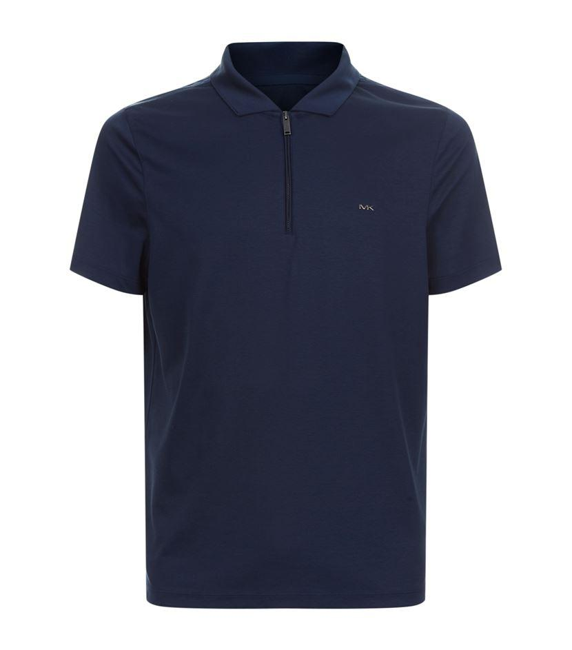 Blue Cotton Nylon Polo 104