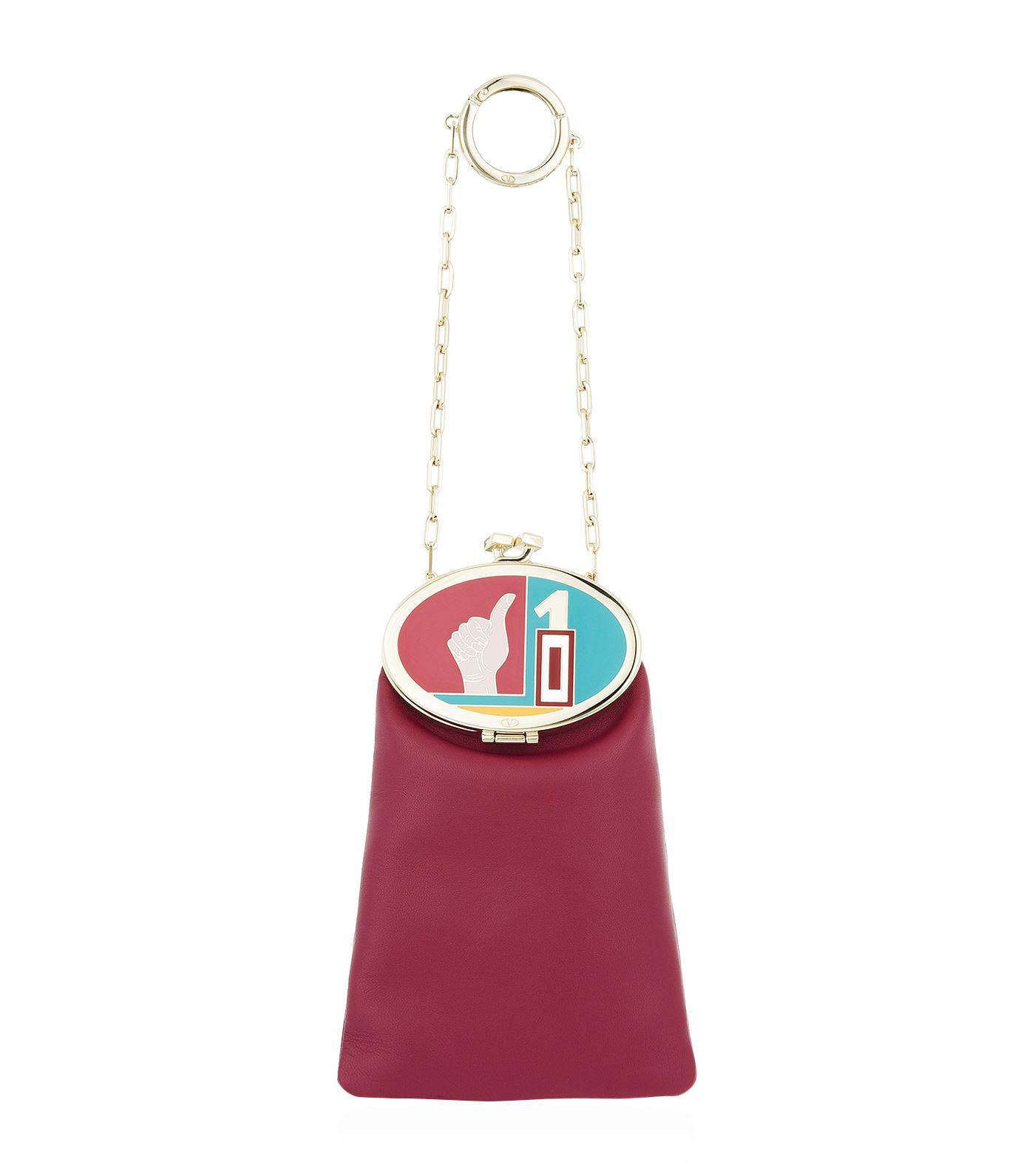 Lyst - Valentino Vanity Bag Charm in Pink c15634420183b