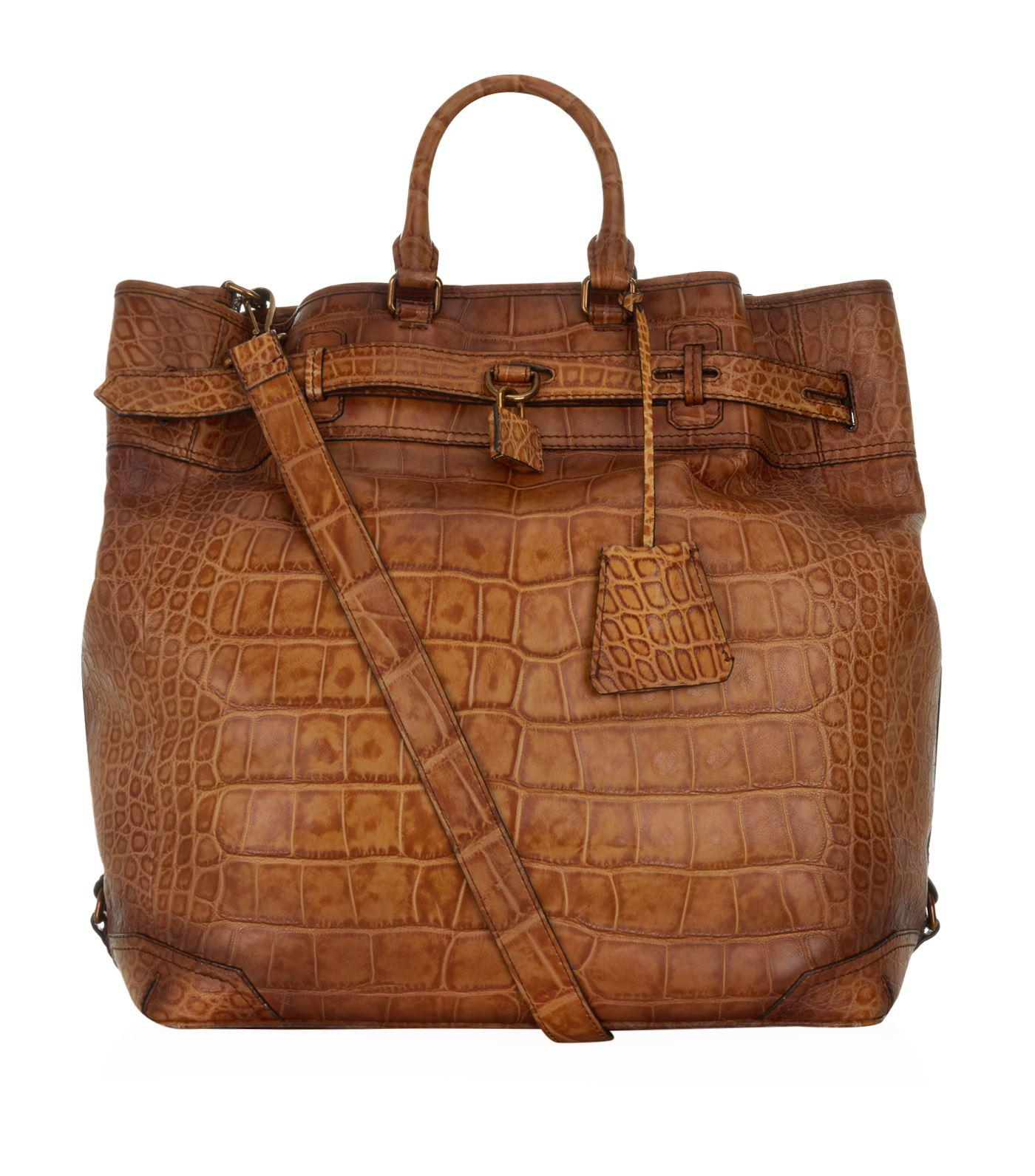 0c10f124a063 Lyst - Burberry Alligator Travel Bag in Brown