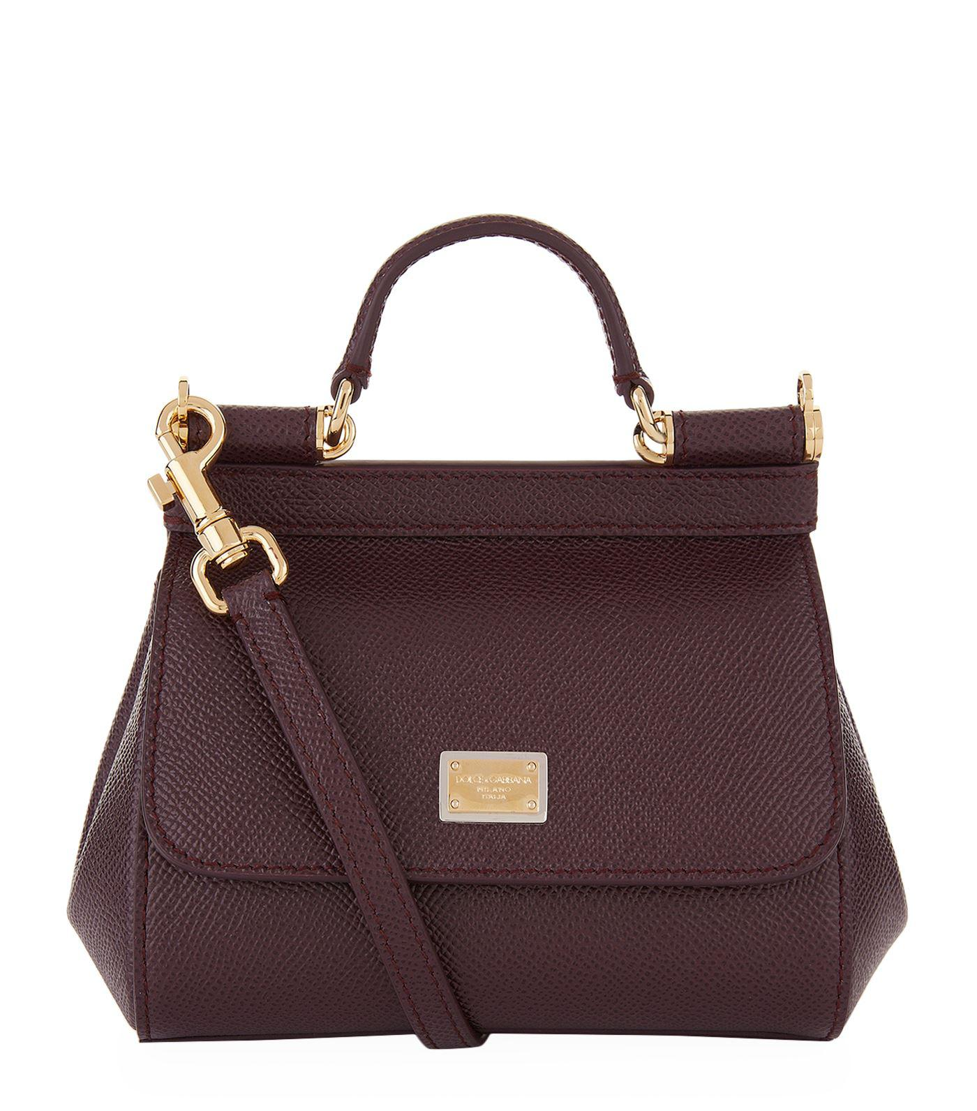 dd00d6f3ef Dolce   Gabbana Micro Sicily Top Handle Bag in Purple - Lyst