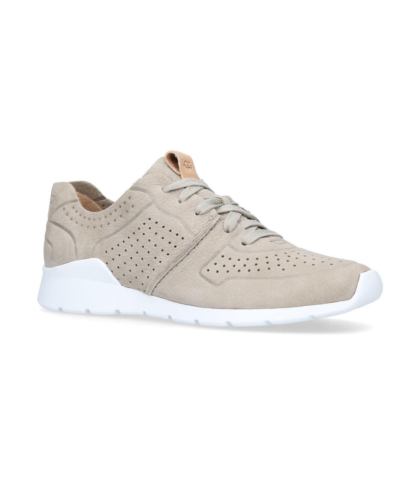 For Nice Sneaker TYE nubuck Hole pattern grey UGG Recommend Sale Online nAyBnUjek