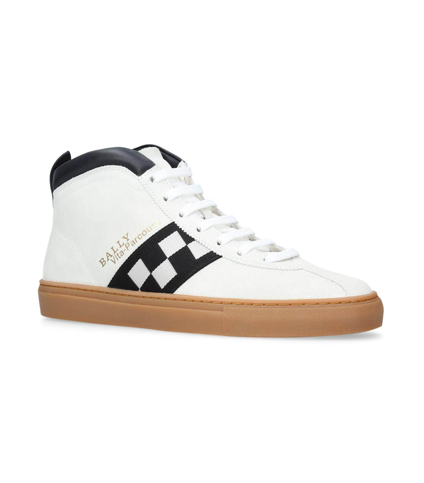 BallyVita-Parcours Retro Leather High-Top Sneakers 7nJyh4