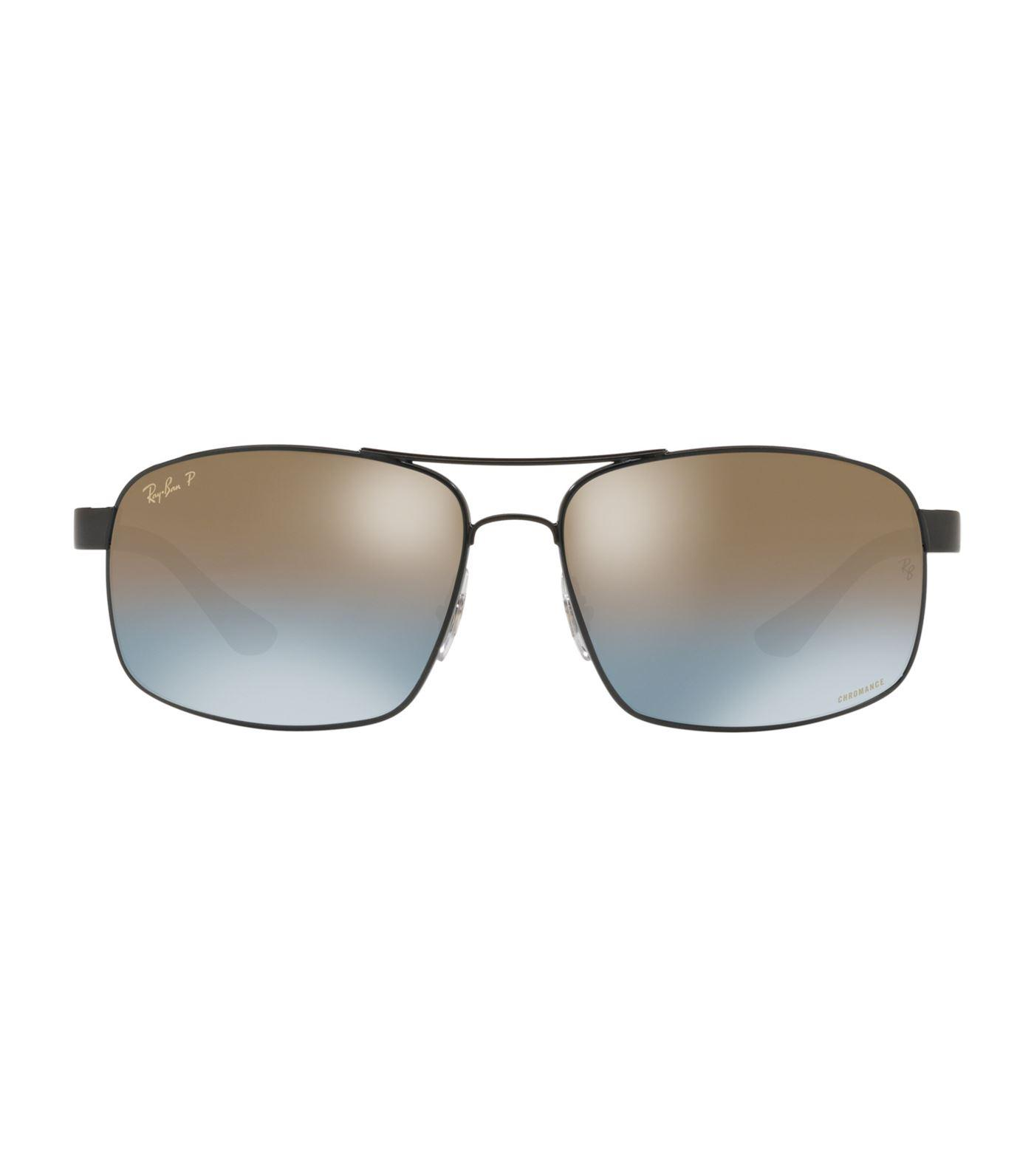 094c9b0f32c Ray-Ban Rectangular Chromance Sunglasses in Black for Men - Lyst
