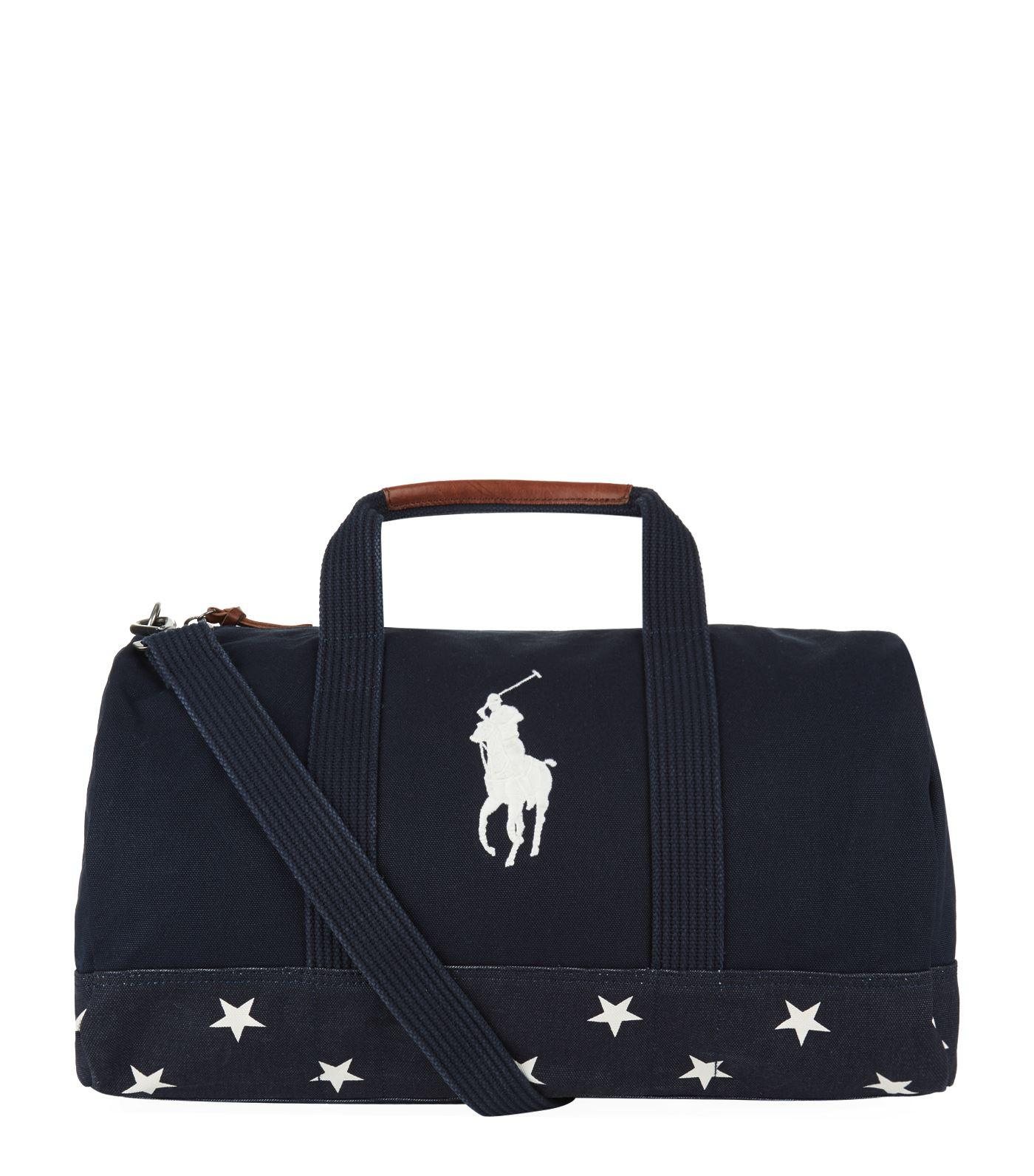 e386a4da0ca3 Lyst - Polo Ralph Lauren Canvas Star Bag in Blue for Men