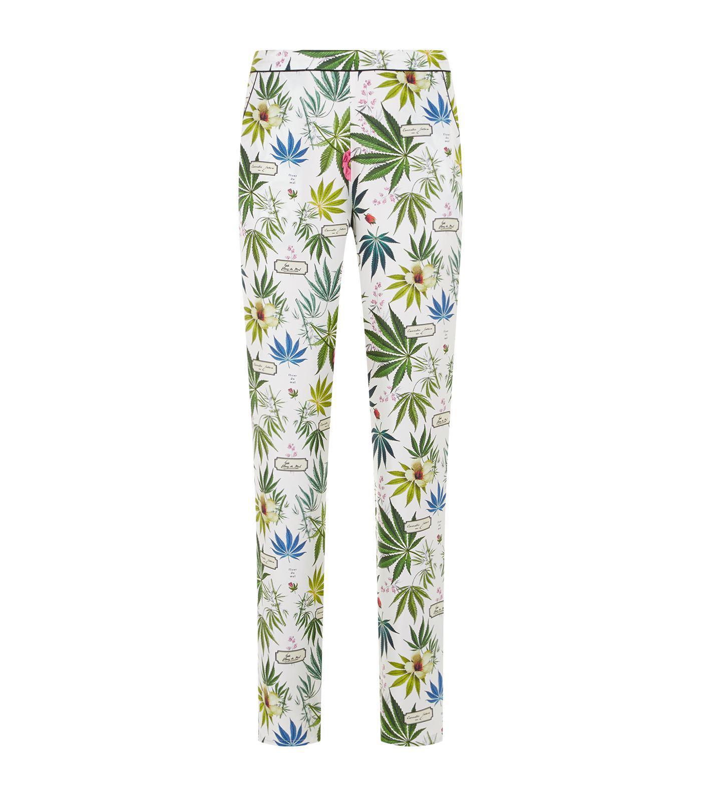 ece5b00e14 Fleur du Mal Botanical Printed Pyjama Trousers - Lyst
