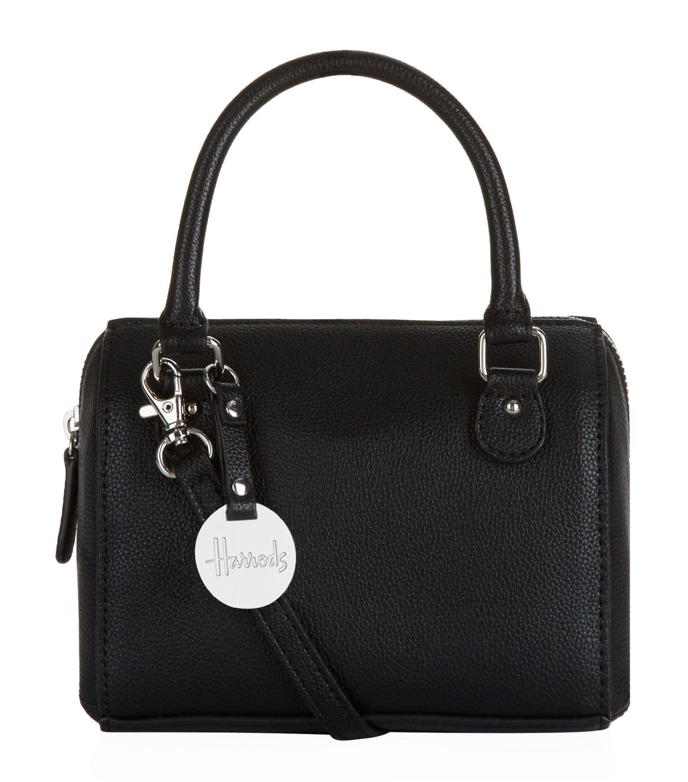 cbfce36d4152 Lyst - Harrods Micro Mini Barrel Bag in Black