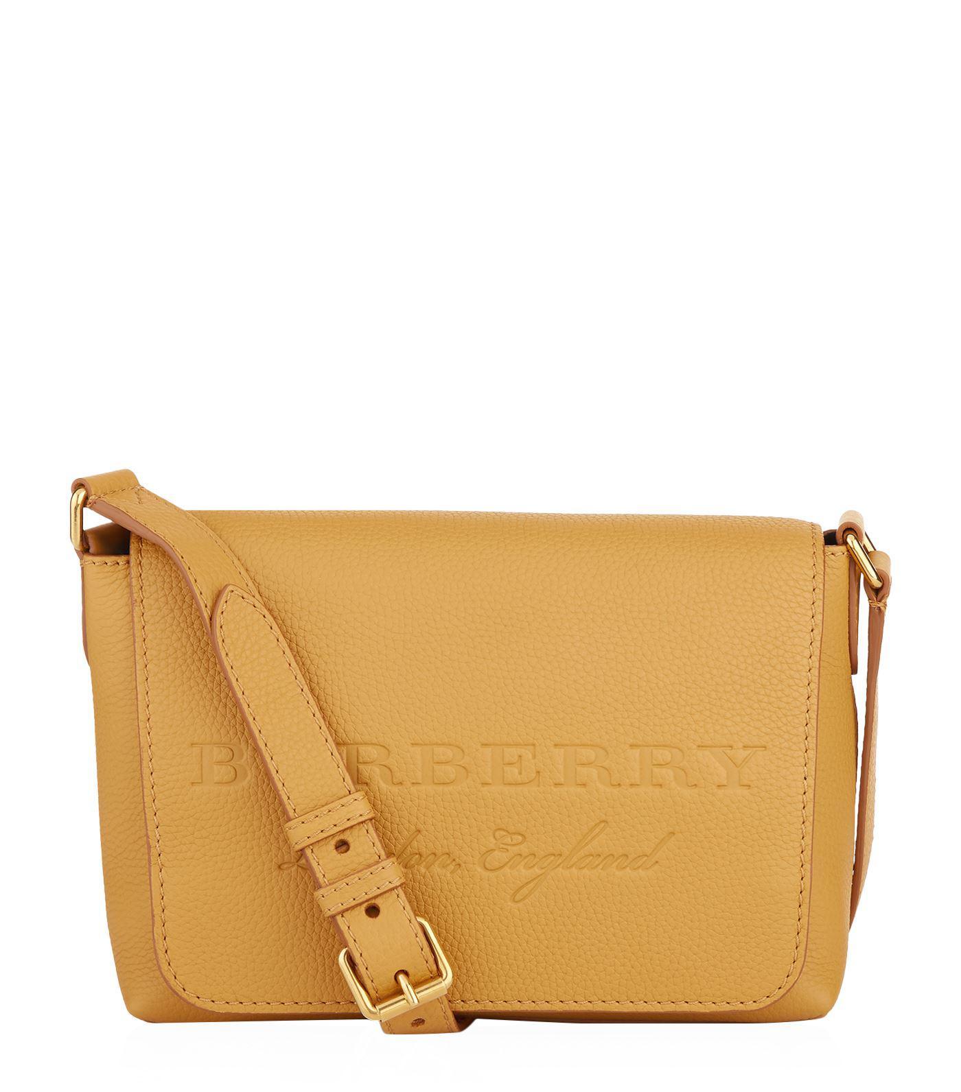 small logo embossed messenger bag - Yellow & Orange Burberry bfNgccEN8O