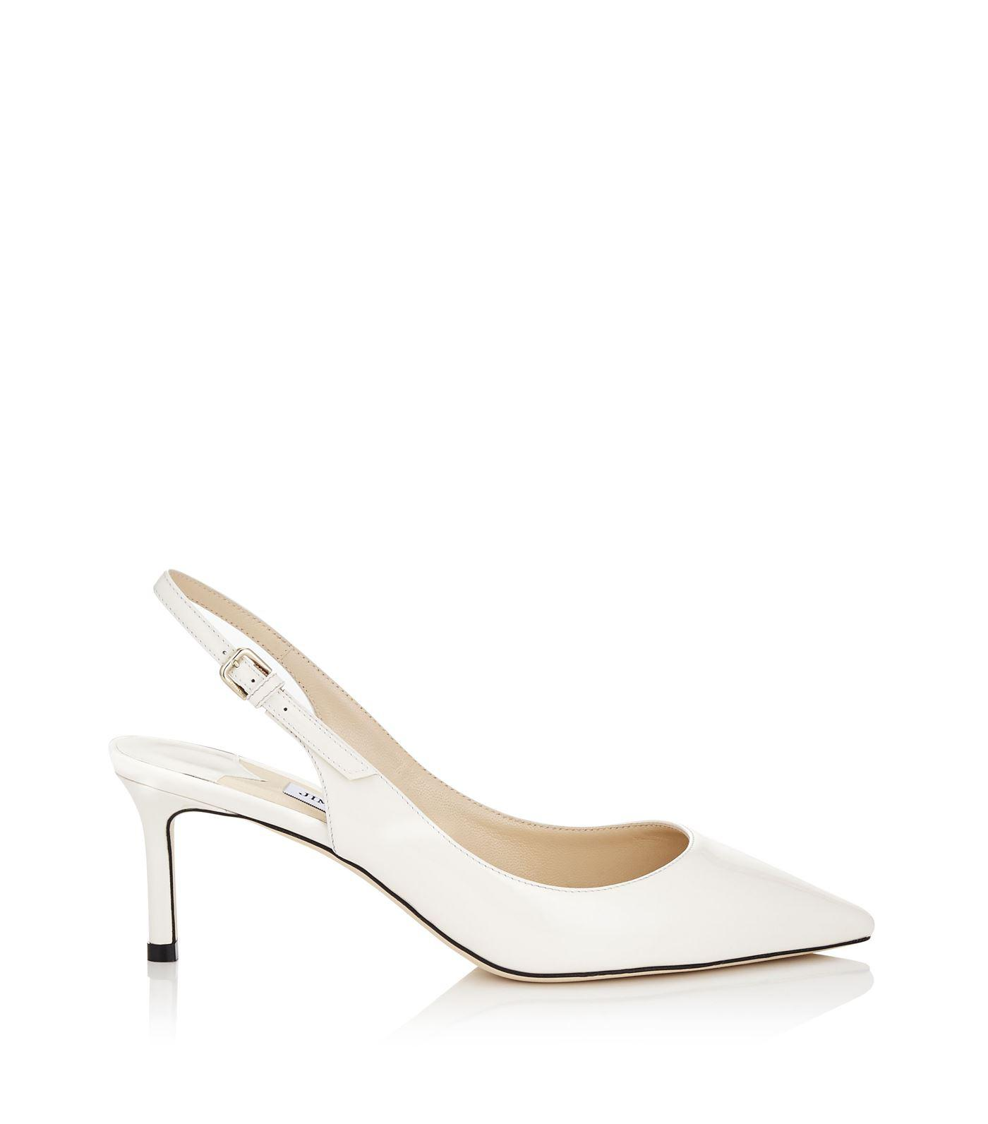 bd4419abb0 Jimmy Choo Erin 60 Leather Slingback Pumps in White - Save 47% - Lyst