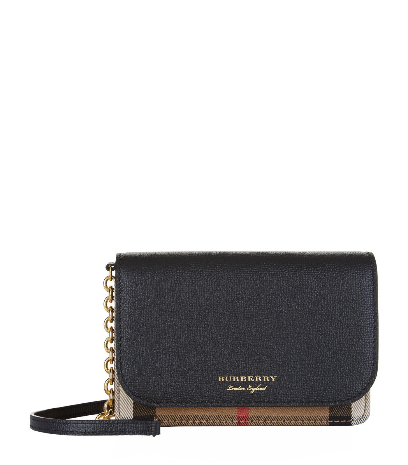 d130b517730 Lyst - Burberry Hampshire Cross Body Bag in Black