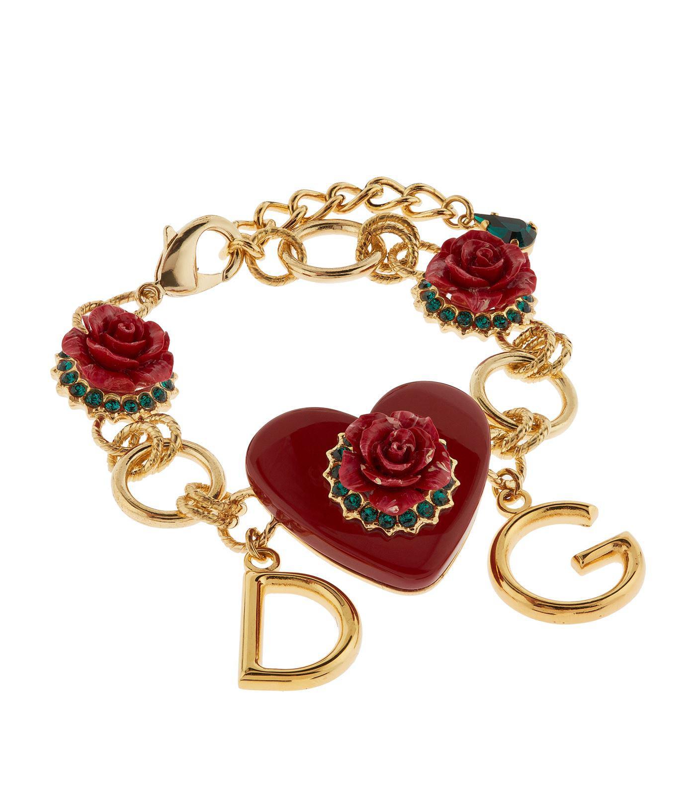Dolce & Gabbana Floral and lemon-charm embellished bracelet 0qQPB