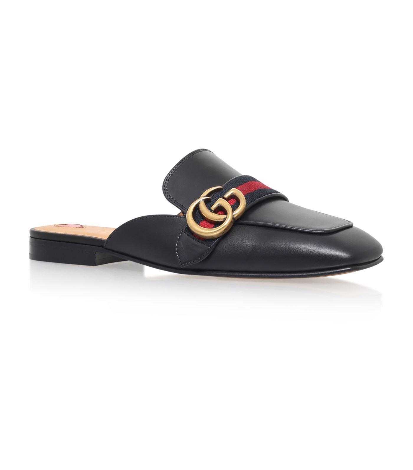 48a1c05d113 Gucci Leather Slipper in Black - Lyst