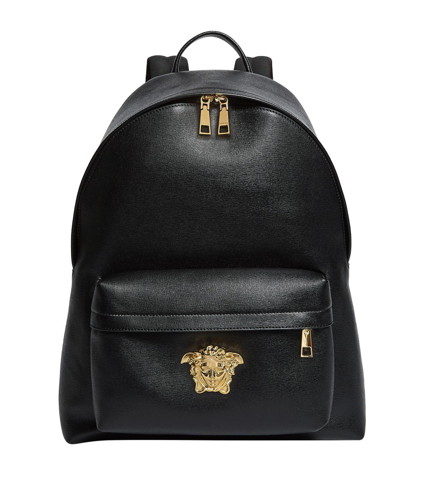 678b546fe797 Lyst - Versace Leather Palazzo Backpack in Black for Men