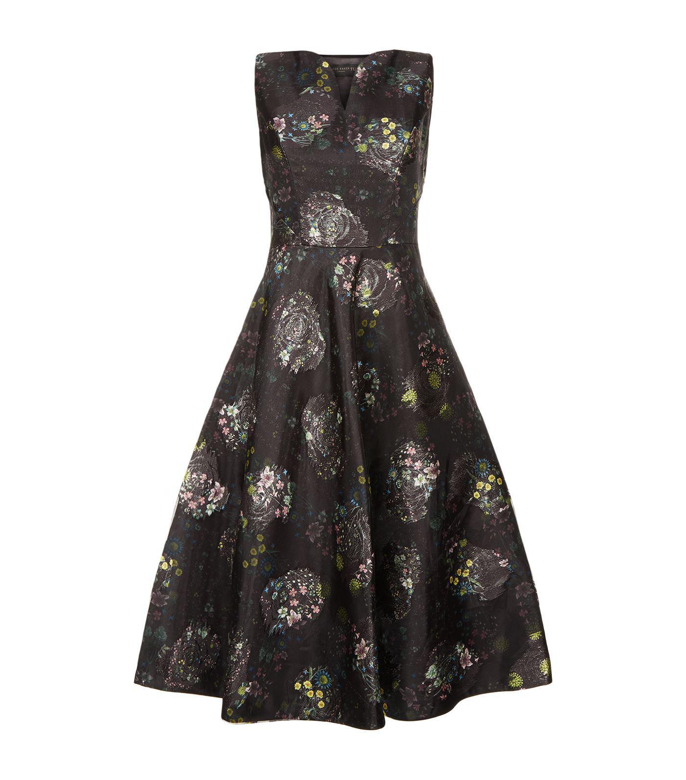 d0cff09edb39 Lyst - Ted Baker Rebetta Paisley Floral Midi Dress in Black