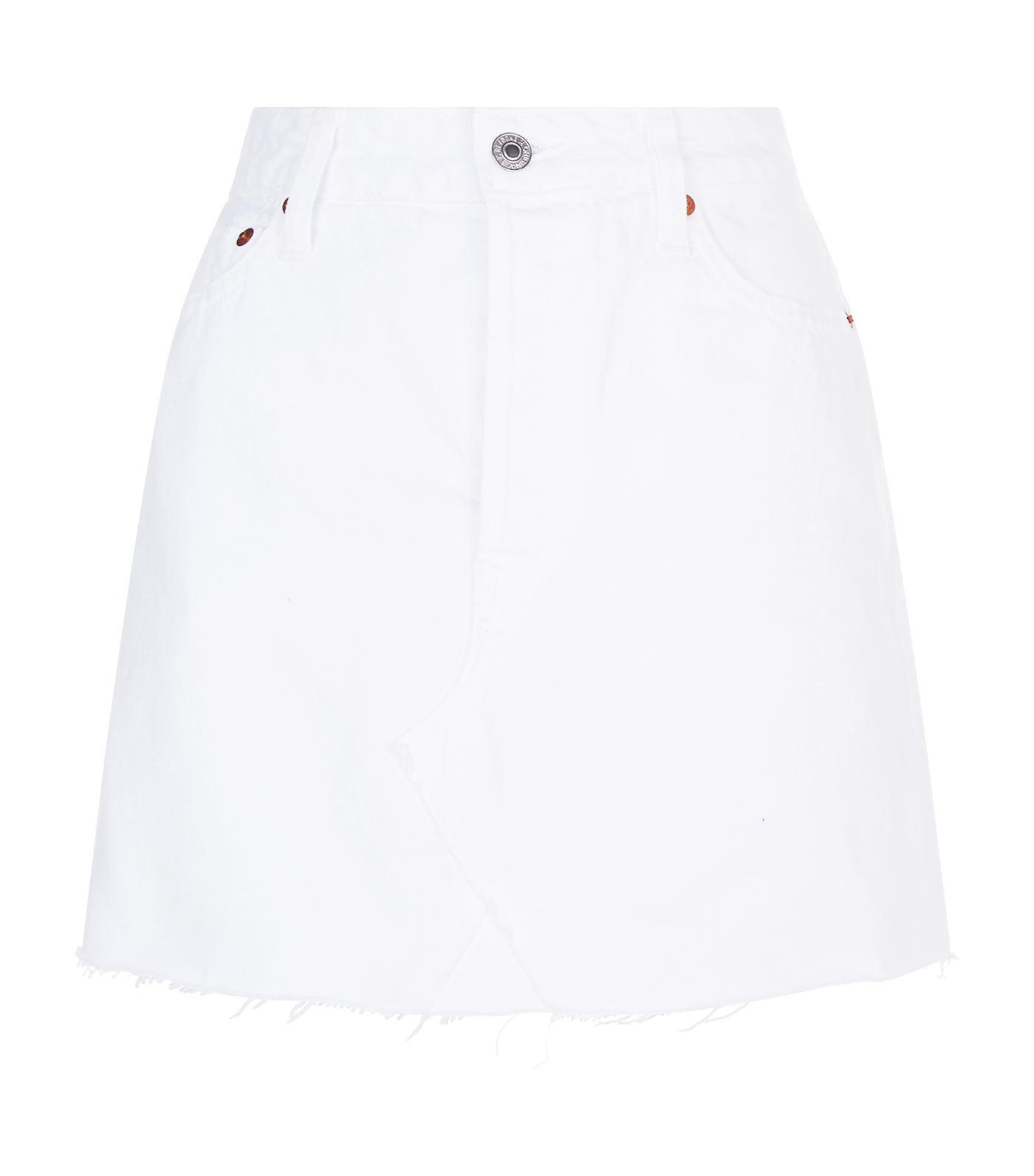 jean lyst Mini blanc jupe refaite en en OSccHq4F