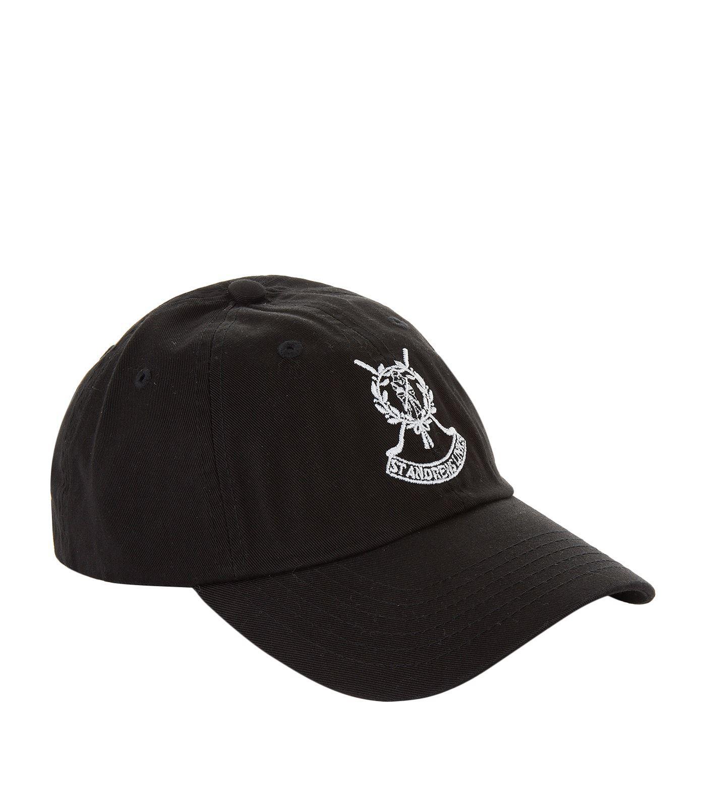 75a8dfeff81 Harrods St Andrews Links Golf Cap in Black for Men - Lyst
