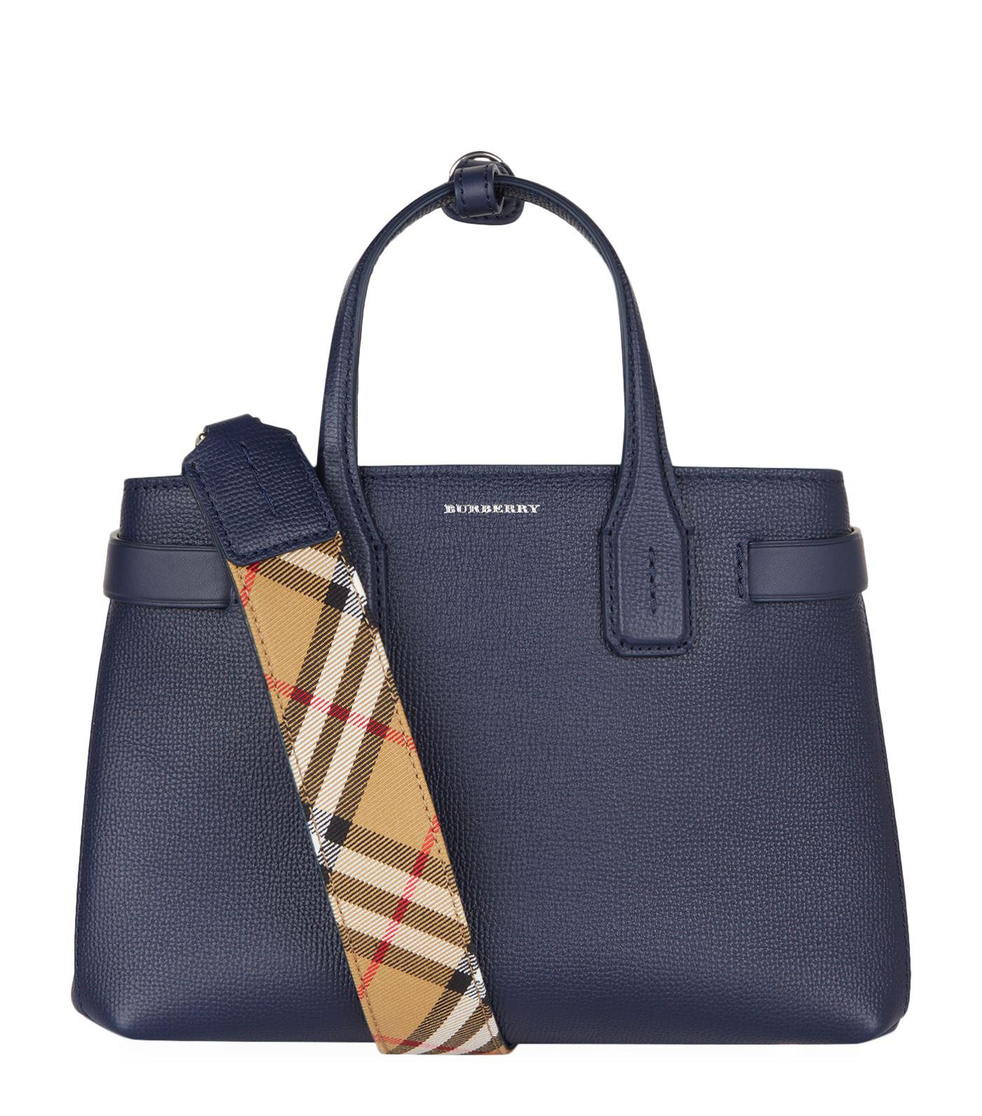 332a4e820821 Lyst - Burberry Small Banner Tote Bag in Blue