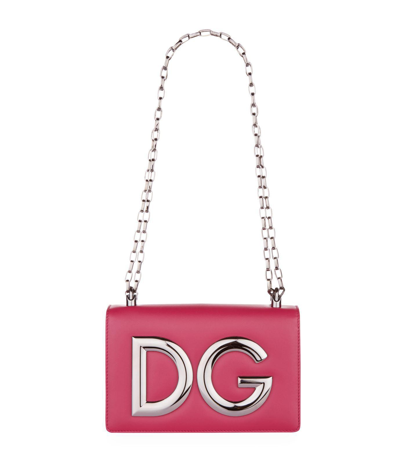 58a51981201e Dolce   Gabbana Logo Hardware Shoulder Bag - Lyst