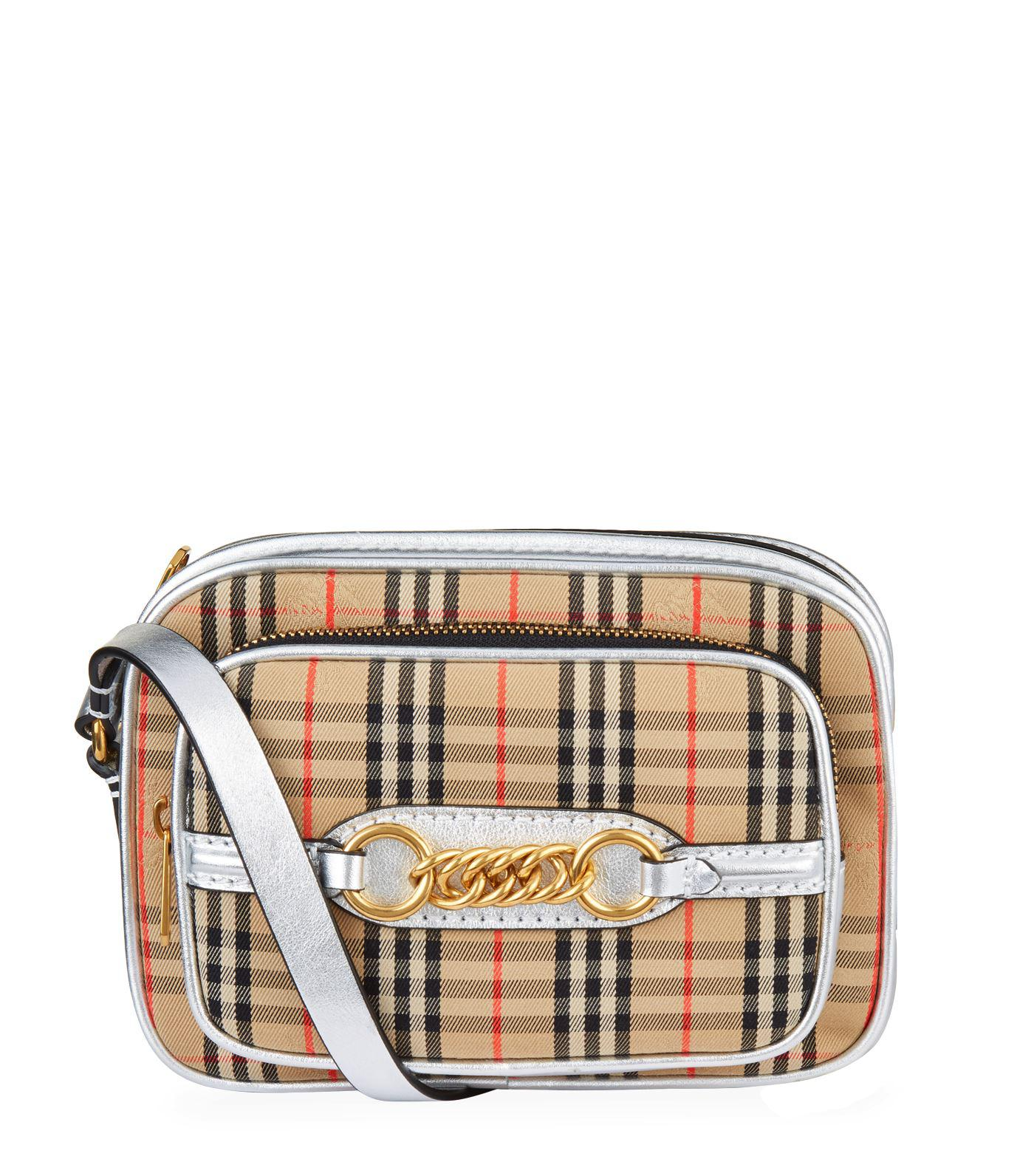 8e39761fae4f Lyst - Burberry 1983 Check Link Camera Bag in Gray