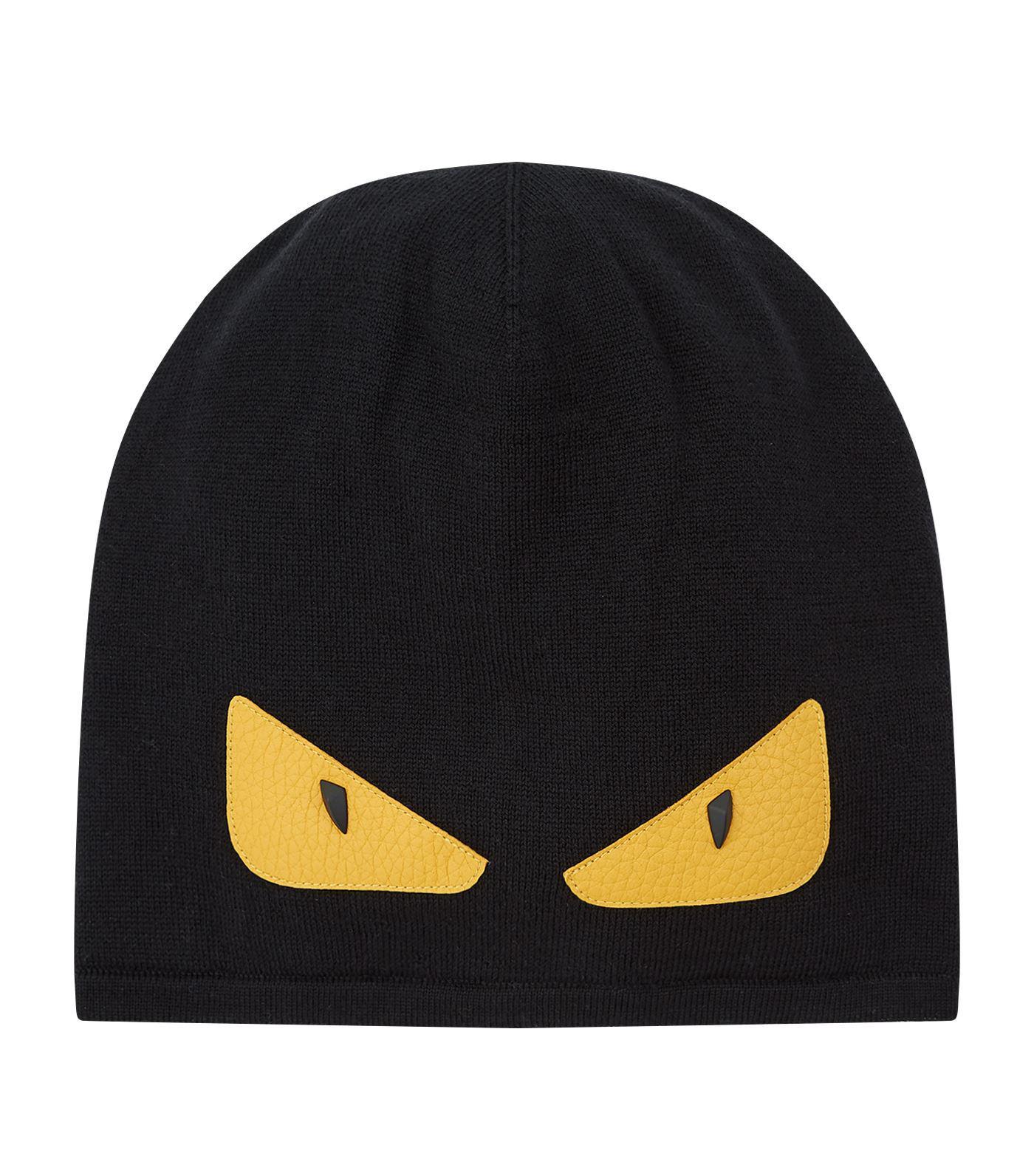 9ecc0510161 Fendi Knitted Monster Eye Beanie in Black for Men - Lyst
