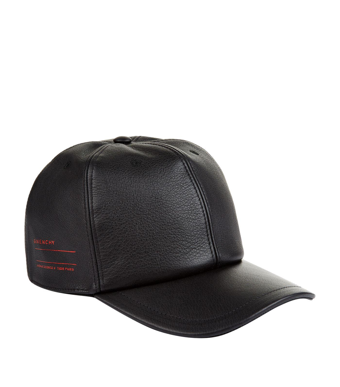 Givenchy Leather Address Logo Cap in Black for Men - Lyst 1855ec08f94