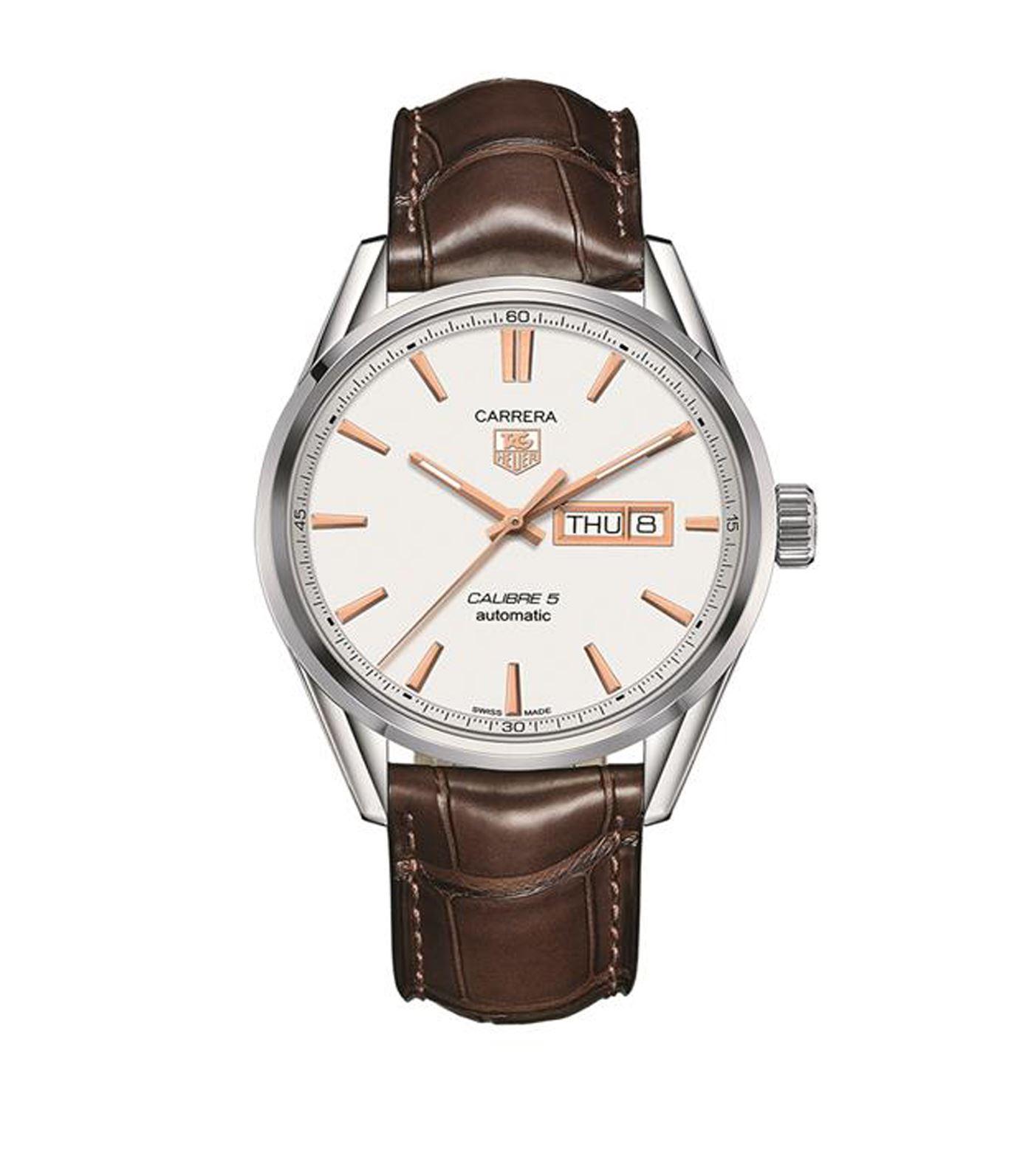Tag heuer Carrera Calibre 5 Quartz Watch in White for Men ...