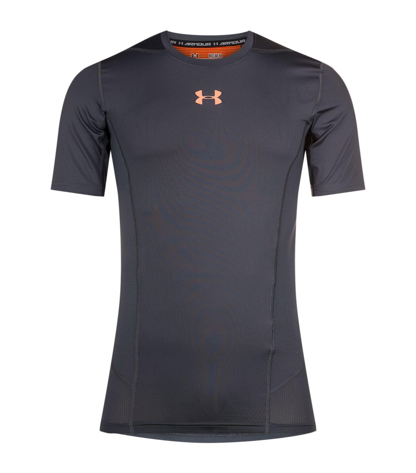 Lyst under armour supervent shirt in gray for men for Gray under armour shirt