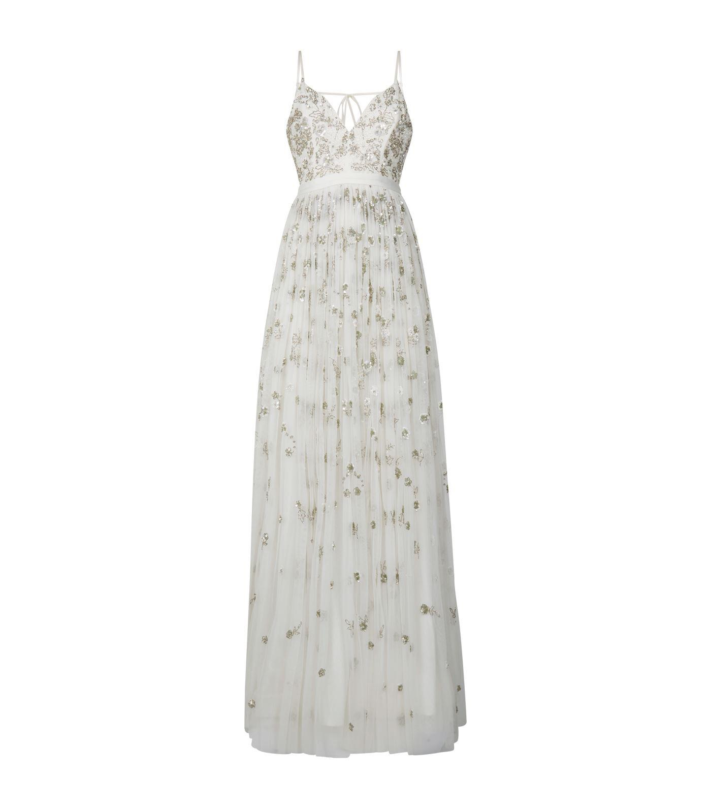 63172cc83f2f Lyst - Needle   Thread Embellished Bridal Gown in White