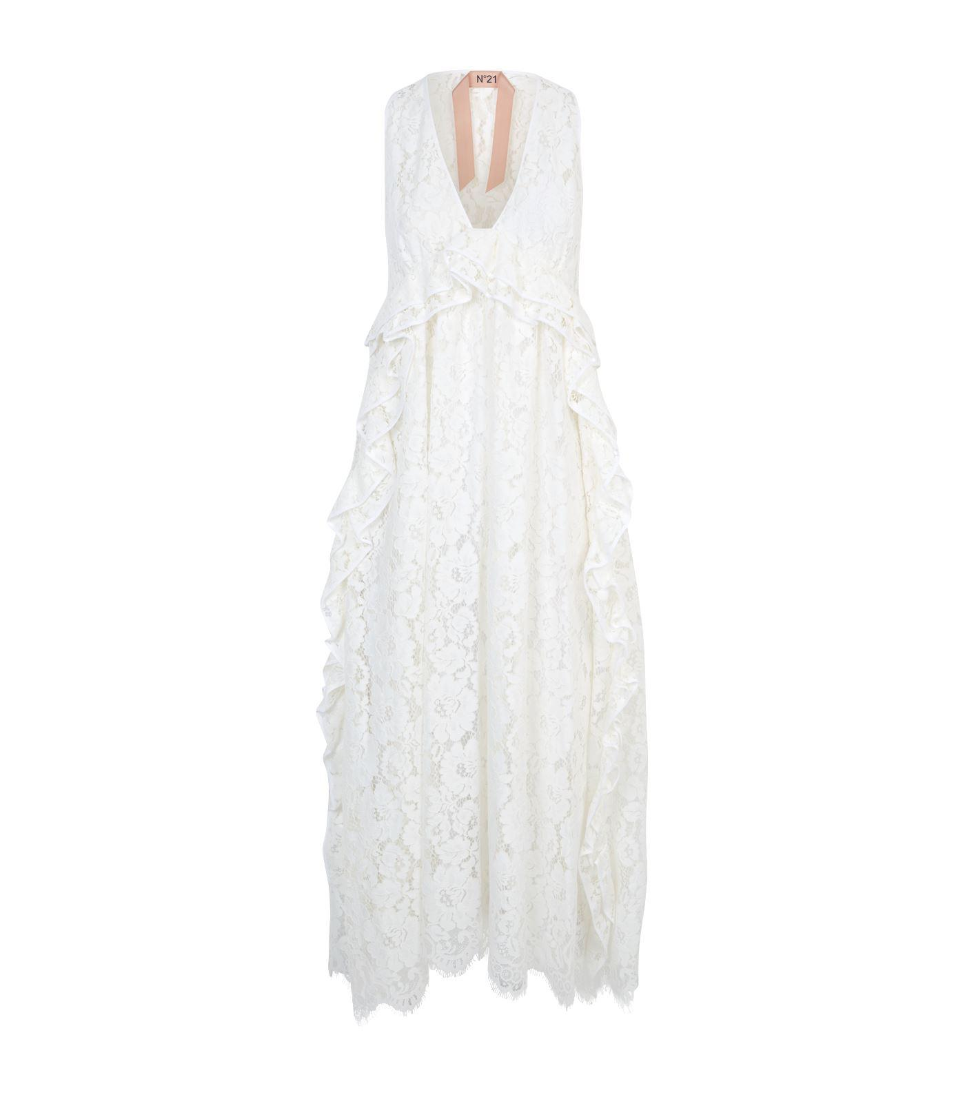 N°21 - White Lace Midi Dress - Lyst. View fullscreen 71fb66794