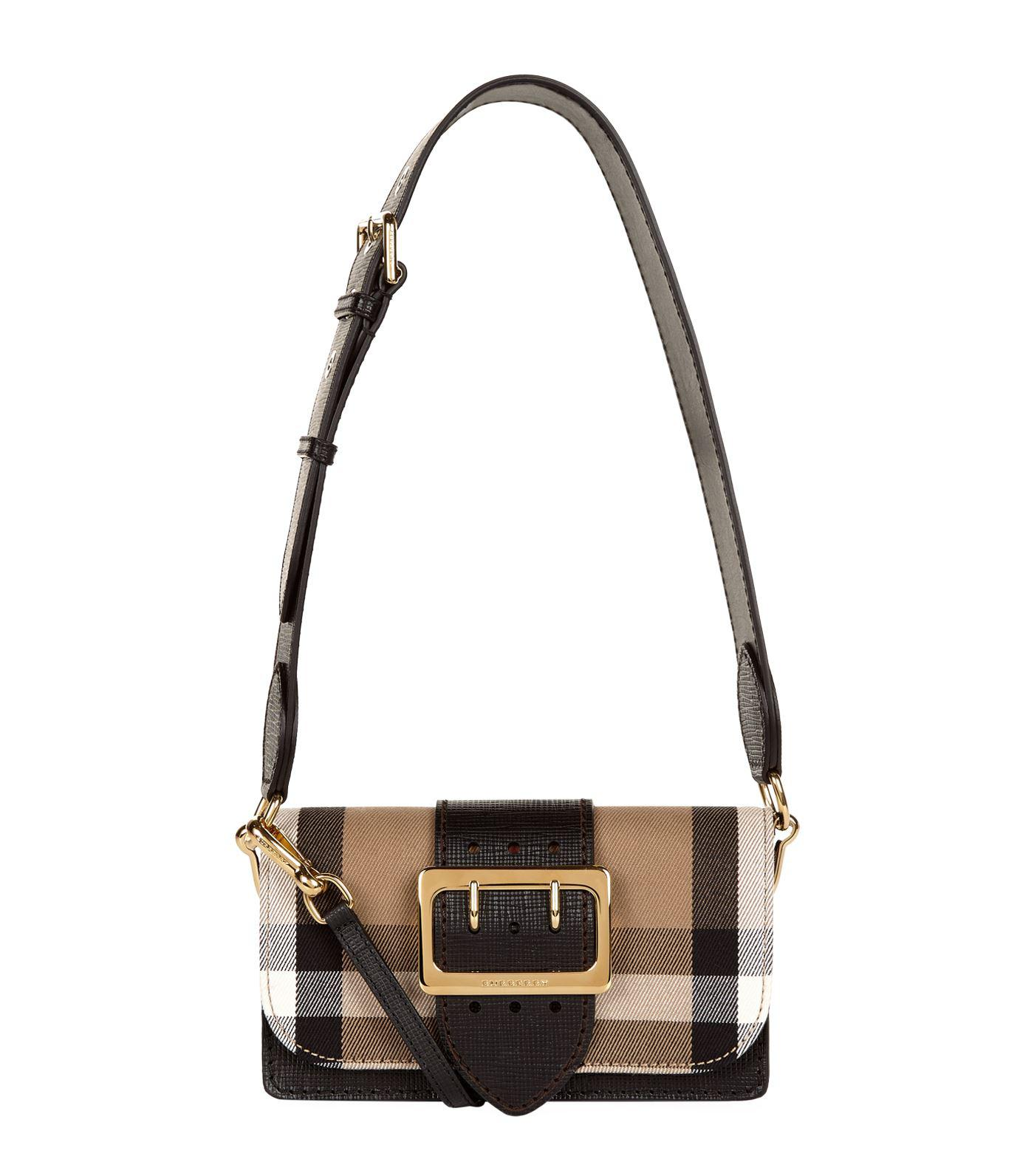 Burberry House Check Buckle Bag in Black - Lyst bb0f3f66fa