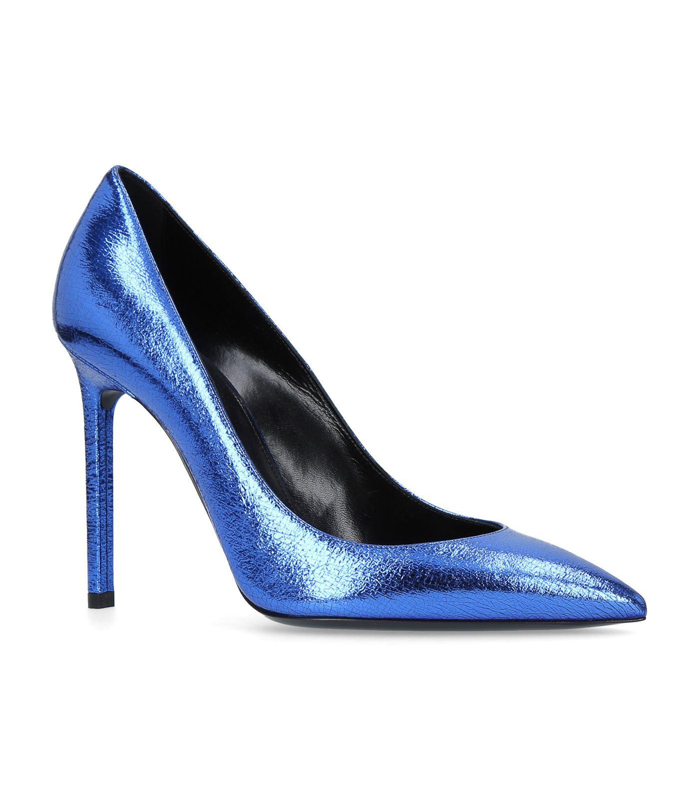 Saint Laurent Anja 105 Pompes - Bleu jI2xfHASQ