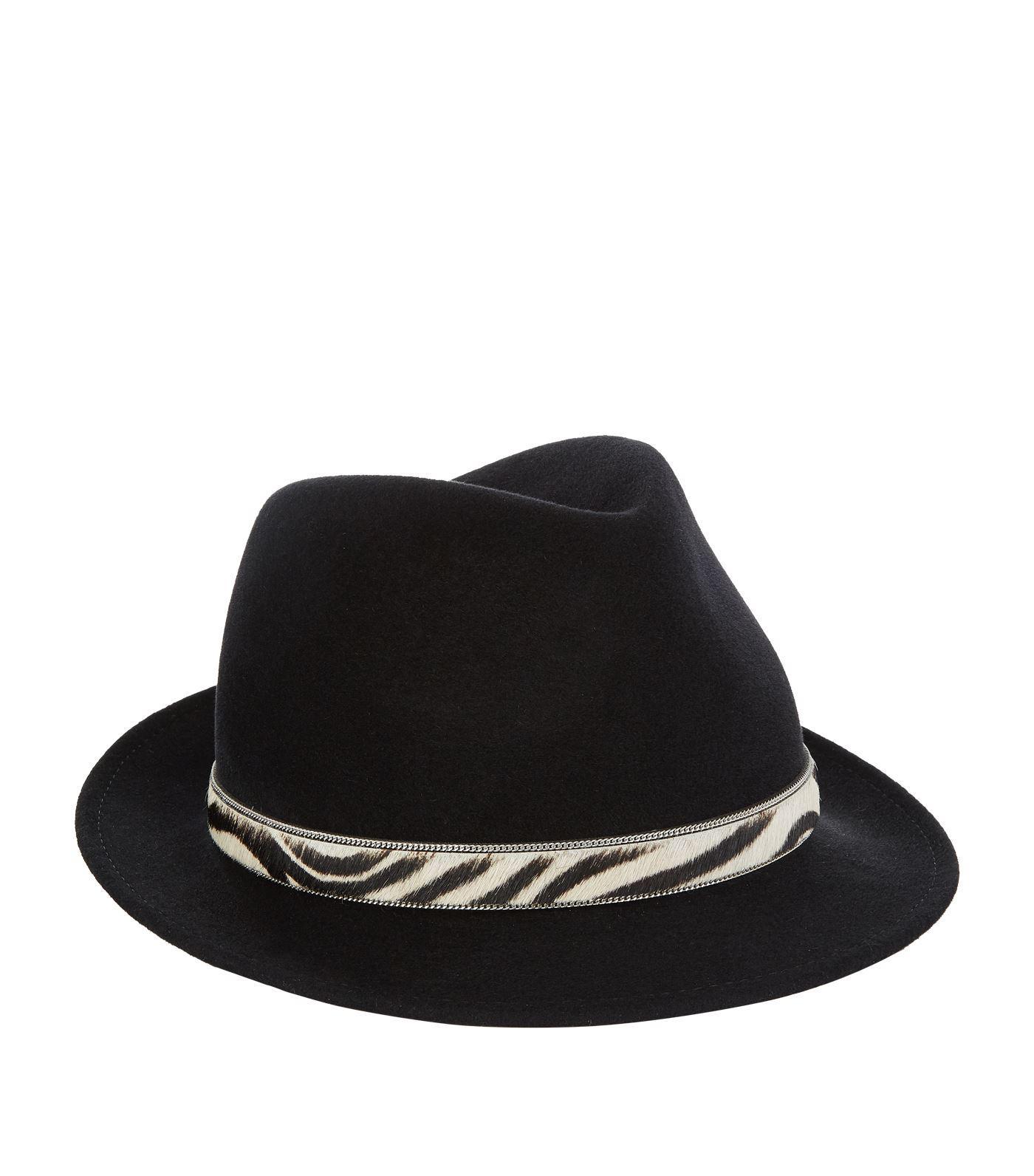 Philip Treacy Unicorn Pin Trilby Hat in White - Lyst 5f1bb288ed98