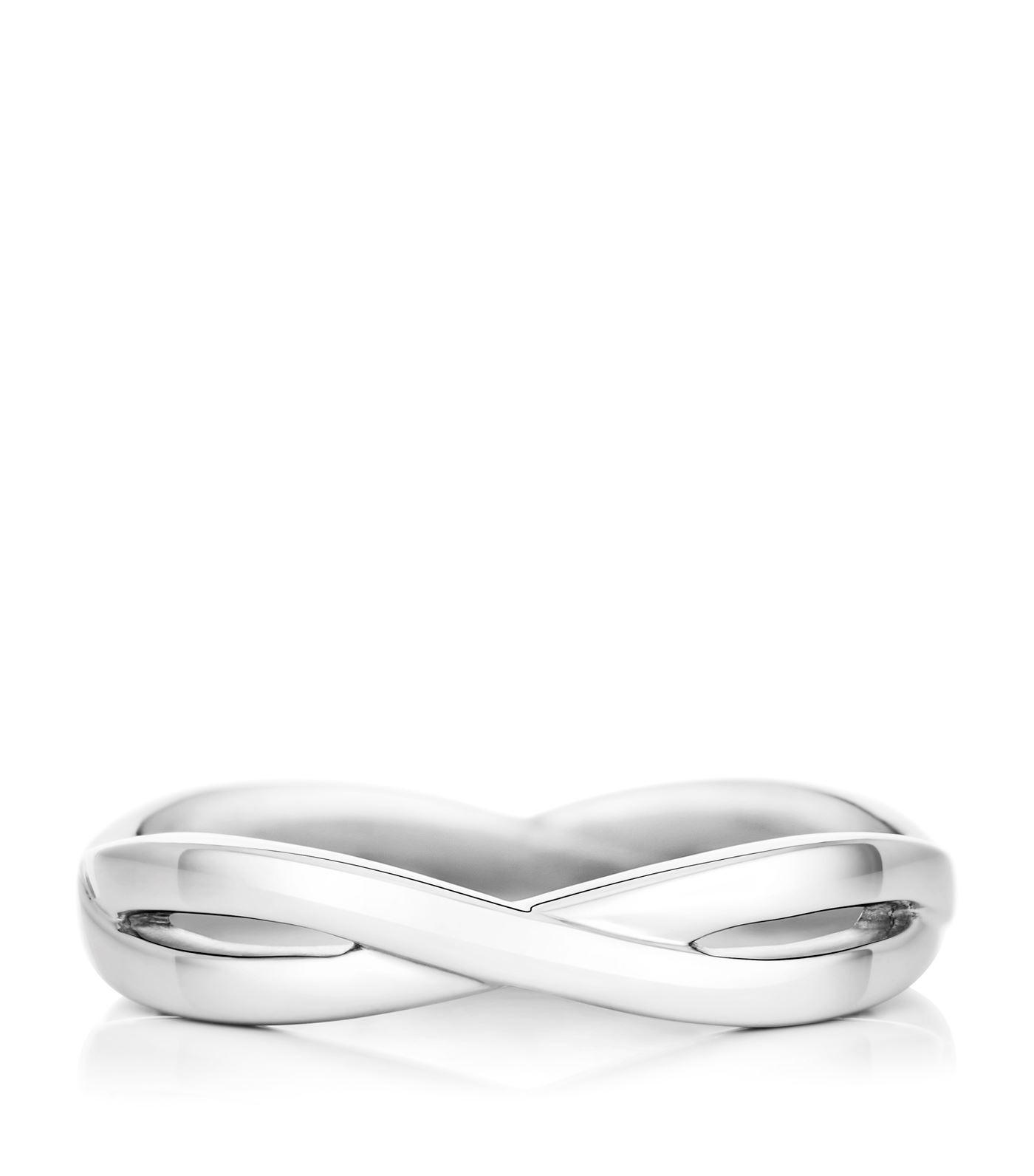 white rose gold wedding amazing band infinity engagement bands ring
