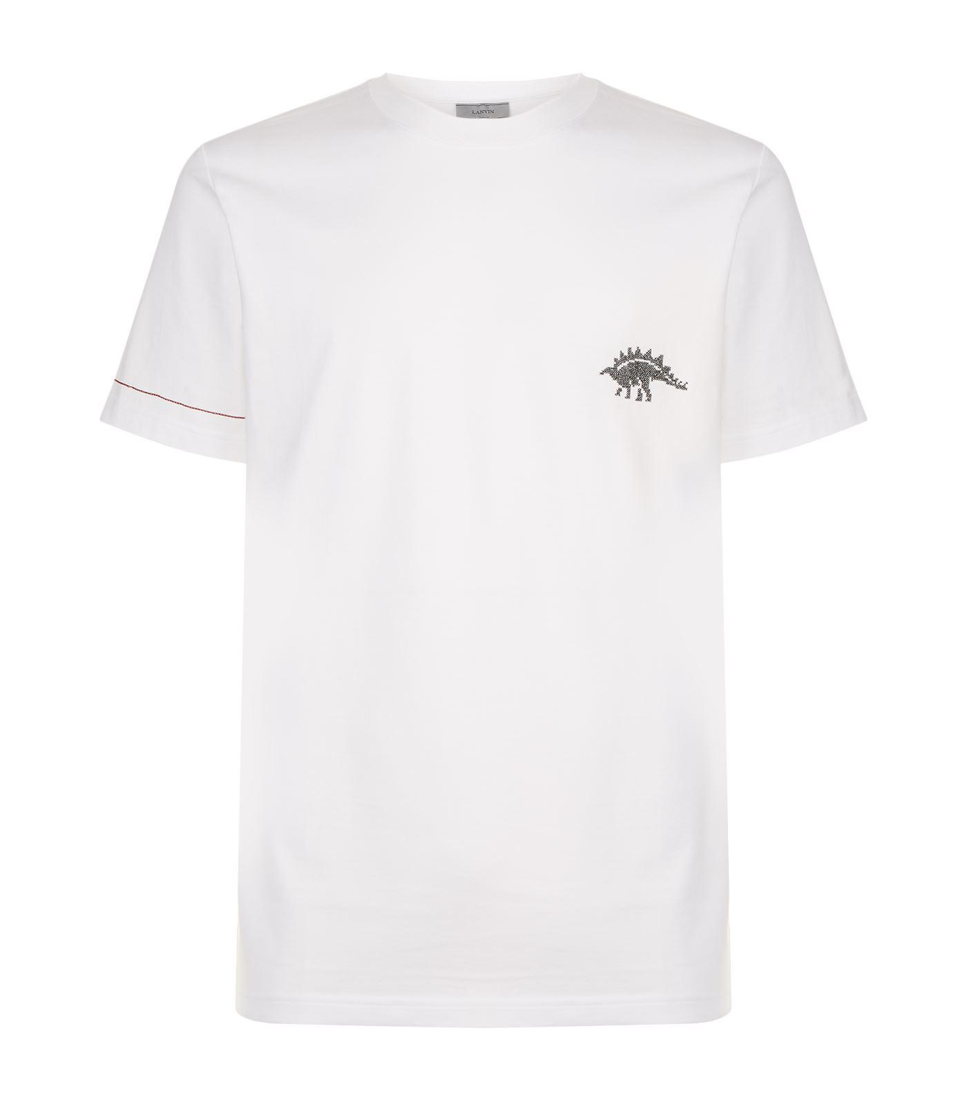 Discount Manchester On Hot Sale Dinosaurs jaquard printed t-shirt Lanvin 7vaRAG5S