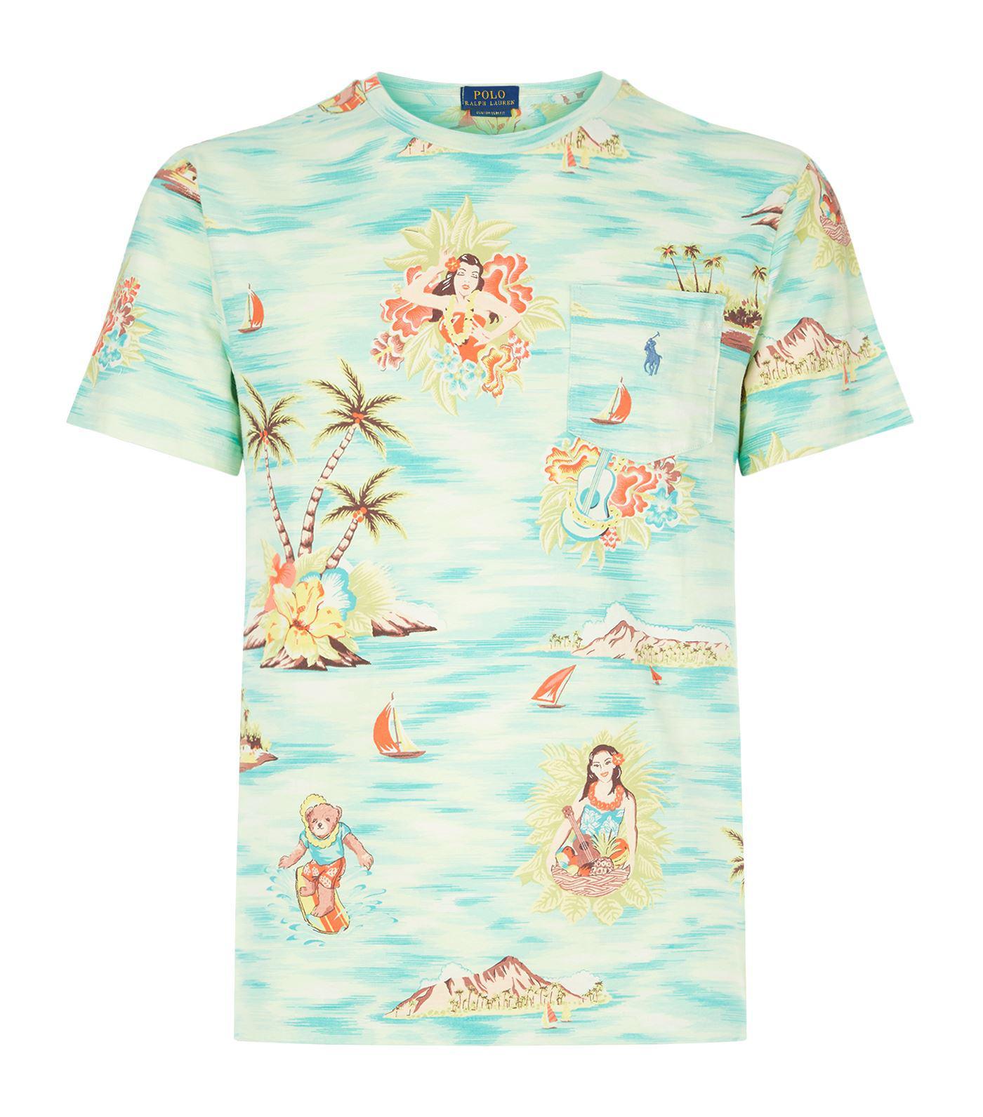 Ralph Men Hawaiian Shirt For Lyst Lauren Polo T Print Kl1cFJ