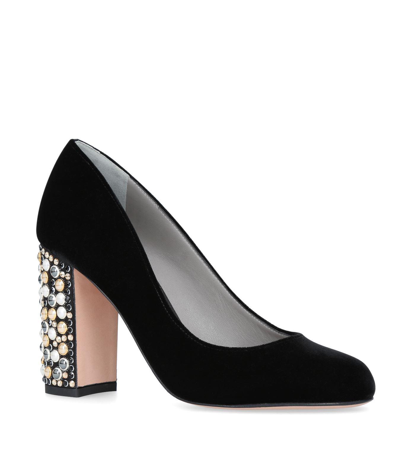 6b0417f80e99 Gina Embellished Velvet Christie Pumps in Black - Save ...