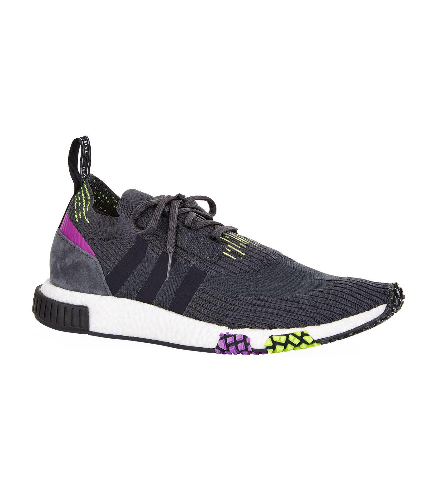 Adidas Originals Nmd Racer Primeknit Trainers in Gray for Men - Lyst 1a599e857