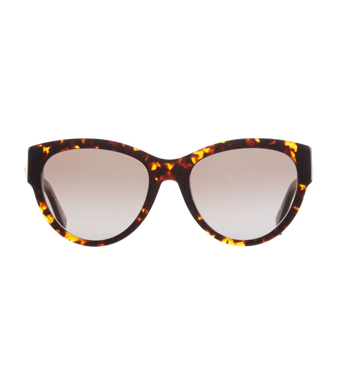 e3eba8774c8 Max Mara Flat3 Cat Eye Sunglasses in Brown - Lyst