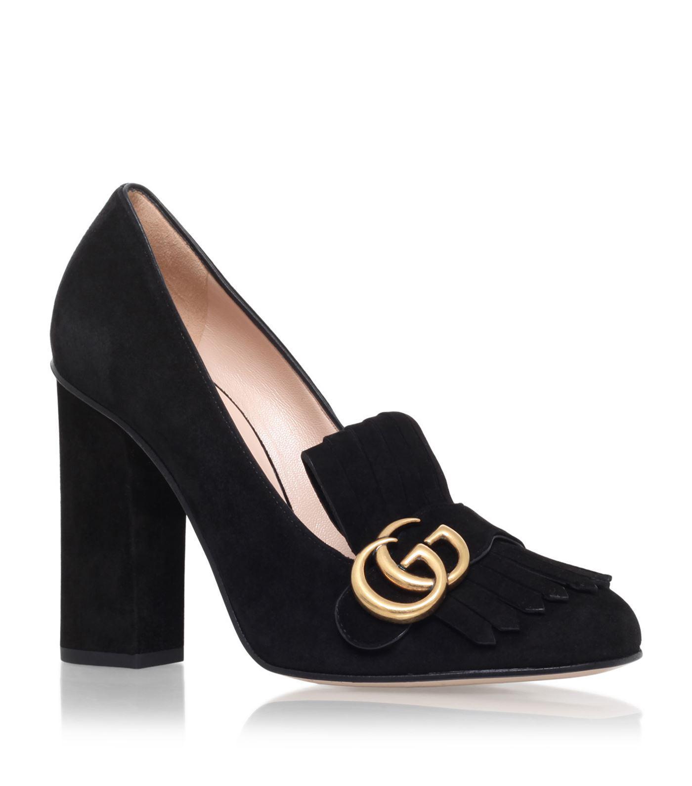 622e78e82467 Lyst - Gucci Marmont Loafer 105 in Black