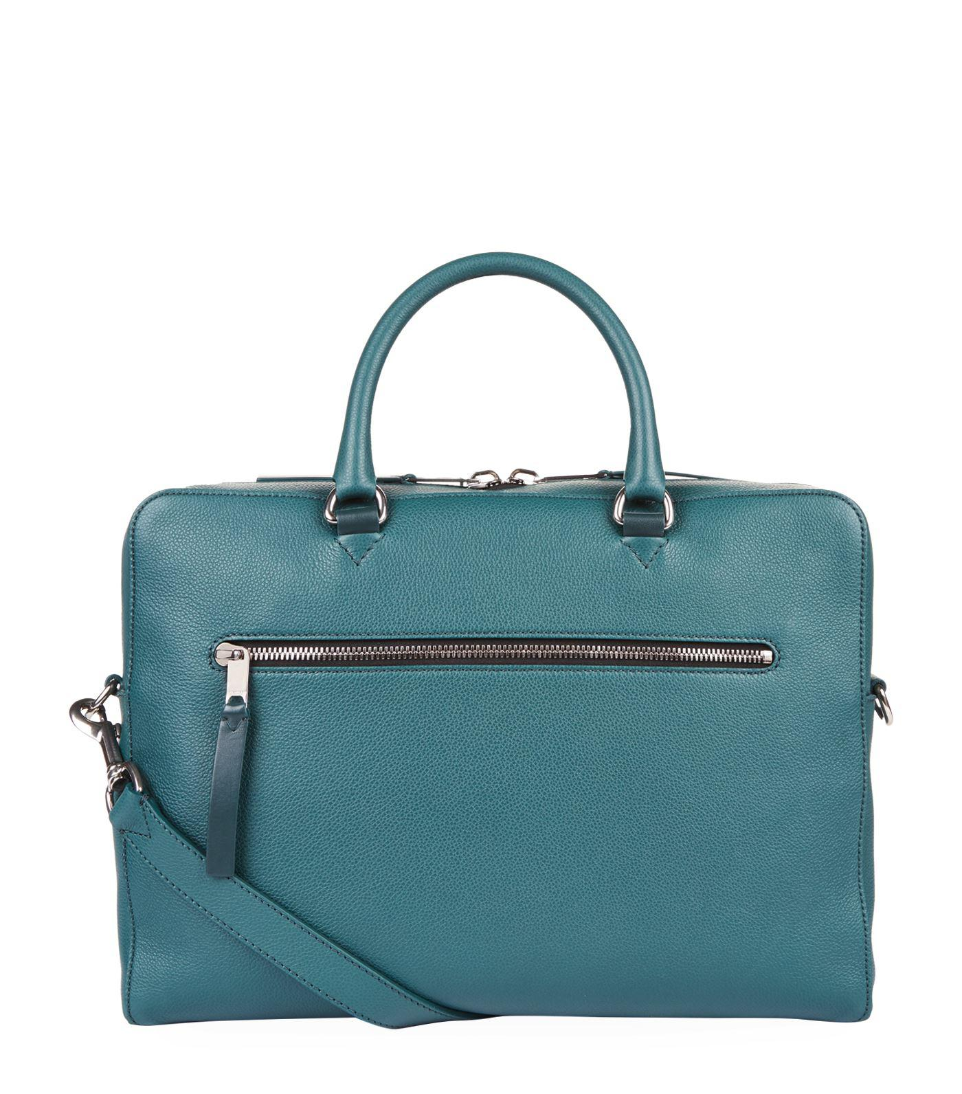 ef05a75444b0 Burberry - Blue Grained Leather Briefcase for Men - Lyst. View fullscreen
