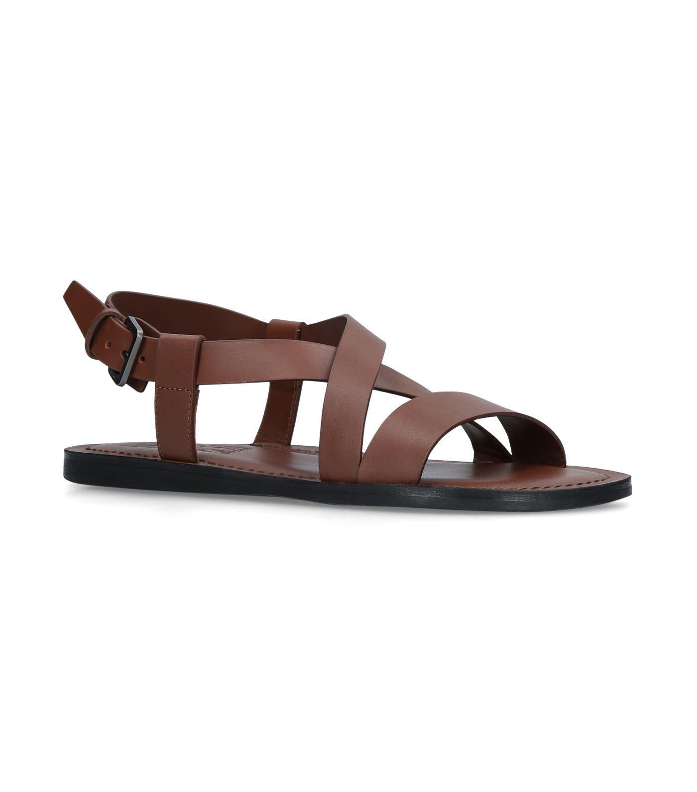 51d6e8f2124f Ferragamo Leather Nostro Sandals in Brown for Men - Lyst